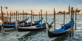 Gondola parking. A group of gondolas parked Stock Images