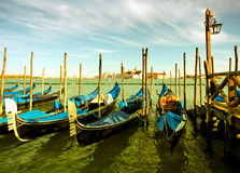 Gondola parking, Venice Stock Photography