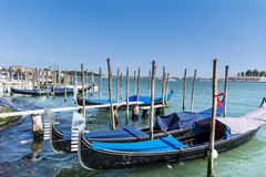 The Gondola Parking in  Venice - Italy Royalty Free Stock Photography
