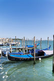 The Gondola Parking in  Venice - Italy Royalty Free Stock Photos