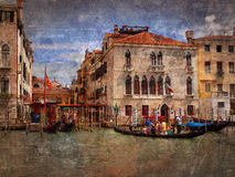 Gondola Party, Venice Royalty Free Stock Photo