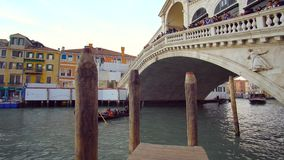 Gondola Passing on the Canal in Venice. stock footage