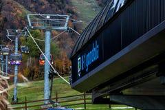 Gondola precisa alla località di soggiorno di montagna di Killington Fotografie Stock Libere da Diritti