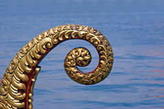 Gondola prow. Gondola spiraled prow detail in venice Royalty Free Stock Photos