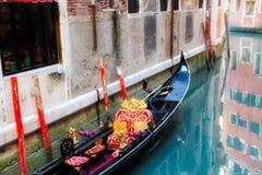Gondola przy dokiem Zdjęcia Stock