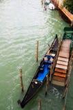 Gondola przy dokiem Zdjęcie Royalty Free