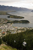 Gondola Queenstown. Gondola rising from Queenstown from above Royalty Free Stock Images