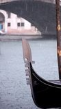 Gondola in the Rain Royalty Free Stock Photo