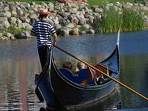 Gondola Ride. Romantic couple taking a gondola ride Stock Photo
