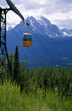 Gondola Ride Rocky Mountains Alberta Canada. Gondola ride in the Canadian Rocky Mountains, Lake Louise Alberta. 6x7 drum scan royalty free stock images