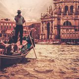 Gondola ride Stock Images