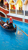 Gondola ride at the venetian macau Stock Image