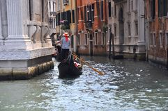 Gondola ride in Venice , Italy Stock Photos