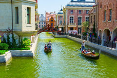 The gondola in river Royalty Free Stock Images