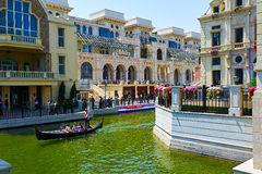 The gondola in river in venice Royalty Free Stock Photos