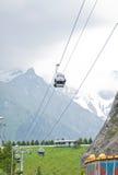Gondola in the Rocky Mountains Stock Image
