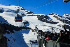 Gondola Rotair wagon kolei linowej przy Mt Titlis Obrazy Stock