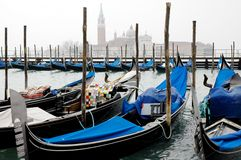 Gondola's in venice italy Stock Photography