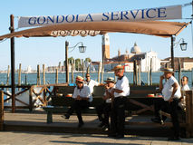 Gondola Service Royalty Free Stock Images