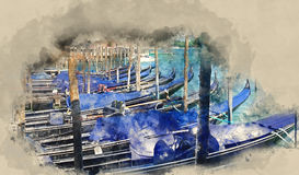Gondola service in Venice Royalty Free Stock Image