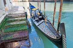 Gondola by the shore Stock Photos