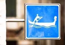 Gondola sign Royalty Free Stock Photo