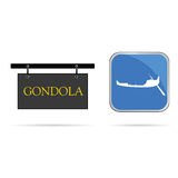 Gondola sign vector illustration Royalty Free Stock Photos