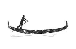 Gondola silhouette Royalty Free Stock Photography