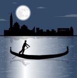 Gondola silhouette Stock Image