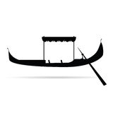 Gondola silhouette vector illustration Stock Photos