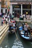 Gondola station in Venice - Italy. Stock Image
