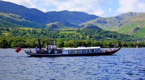 Gondola steam boat on Coniston water Lake District England Royalty Free Stock Photography