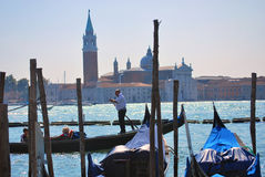 Gondola sul grande canale, Venezia Fotografia Stock Libera da Diritti