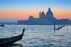 Gondola at sunset stock photography