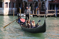 Gondola Tour in Venice Italy Royalty Free Stock Photography