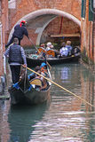 Gondola Tour in Venice Italy Stock Photos