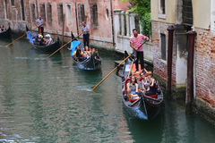 Gondola Tour in Venice Italy Stock Photo