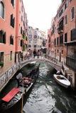 Gondola with tourists Royalty Free Stock Photos