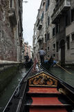 On a Gondola. From a Trip around Venice, Italy Royalty Free Stock Images