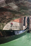 Gondola under bridge Royalty Free Stock Photography