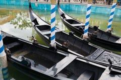 Gondola in valnice. Gondola boat in water in valnice Stock Images