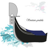 Gondola. Vector illustration background or post card with venetian gondola Royalty Free Stock Photography