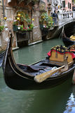 Gondola in Venetian Canal Royalty Free Stock Photo