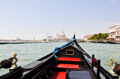Gondola on the Venetian Grand Canal  in Venice, Italy. Royalty Free Stock Photo