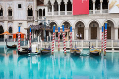 Gondola  in Venetian Hotel in Las Vegas Royalty Free Stock Photography