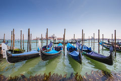 Gondola the Venetian rowing boat in Venice, Italy Royalty Free Stock Photography