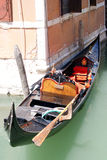 Gondola on venezia channel royalty free stock image