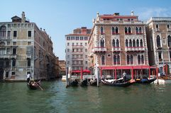 Gondola in Venice. Gondola on Rio Grande, in Venice, Italy Stock Image