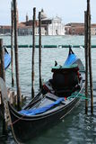 Gondola in Venice. The gondola is a traditional, flat-bottomed Venetian rowing boat, well suited to the conditions of the Venetian Lagoon. For centuries gondolas Stock Image