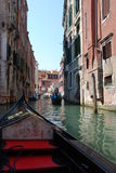 Gondola in Venice. Gondola on canal in Venice, Italy royalty free stock photo